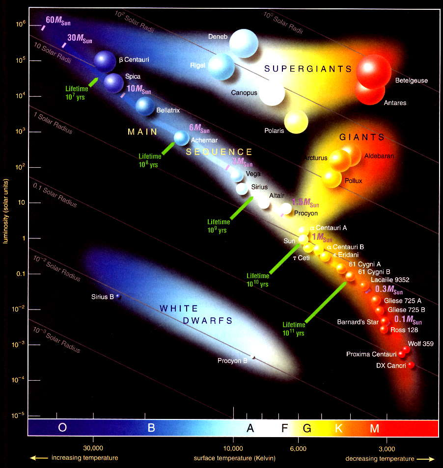 Free Worksheet Hertzsprung-russell Diagram Worksheet astronomy phys 010 lifetimes alonng the main sequence
